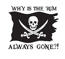 Why IS the rum always gone?! Photographic Print