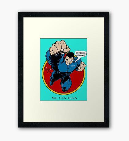 SuperHero Thrust Framed Print