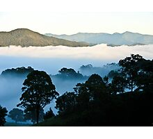 Winter morning on the ranges Photographic Print