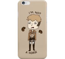 Jean Is Not A Horse iPhone Case/Skin