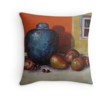 Ginger Jar and Fruit Throw Pillow