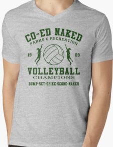 CO-ED Naked Volleyball Mens V-Neck T-Shirt