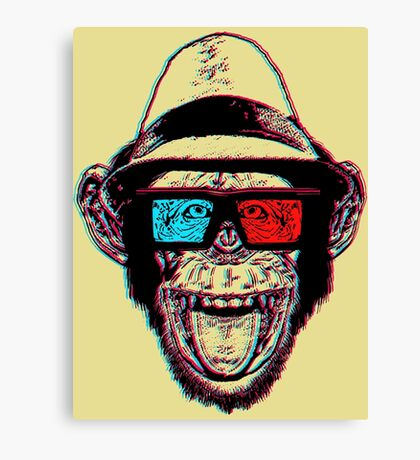 HIPSTER CHIMP - THE CHIMPSTER Canvas Print