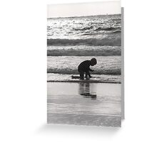End of Day Seashell Hunt Greeting Card