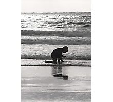 End of Day Seashell Hunt Photographic Print
