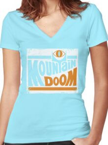Mountain Doom Women's Fitted V-Neck T-Shirt