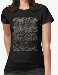 The Standard Model - A Love Poem Womens Fitted T-Shirt