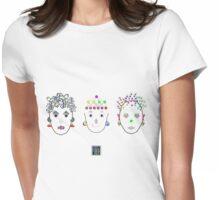 """Anthropomorphic Math Chicks 1""© Womens Fitted T-Shirt"