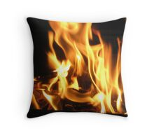 Flame Burst Throw Pillow