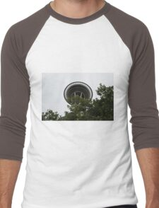 Space Needle or Space Saucer... Men's Baseball ¾ T-Shirt