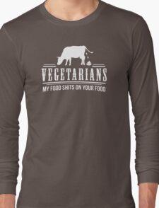 FUNNY VEGETARIAN JOKE Long Sleeve T-Shirt