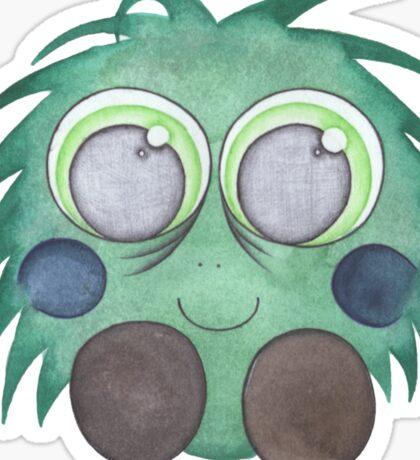 Green Fluff Sticker