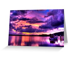 Immense Sunset Greeting Card
