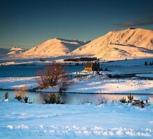 Golden Hills - Lake Tekapo, NZ by Dean Mullin