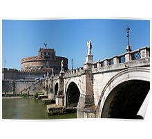 Saint Angelo Bridge Rome Poster