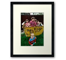 Neighbourhood Clean Up Day Framed Print