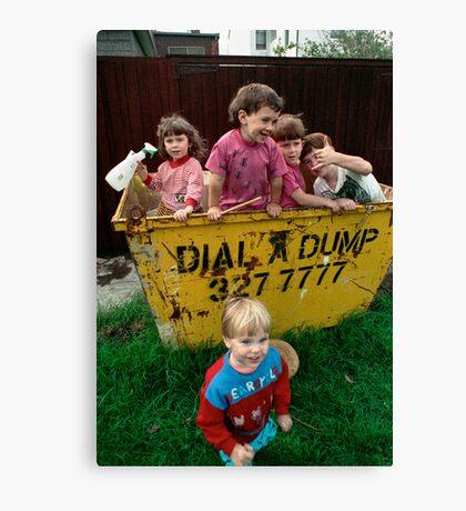 Neighbourhood Clean Up Day Canvas Print