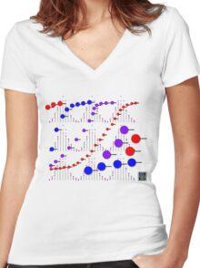 """Binomial Poisson Cumulative""© Women's Fitted V-Neck T-Shirt"