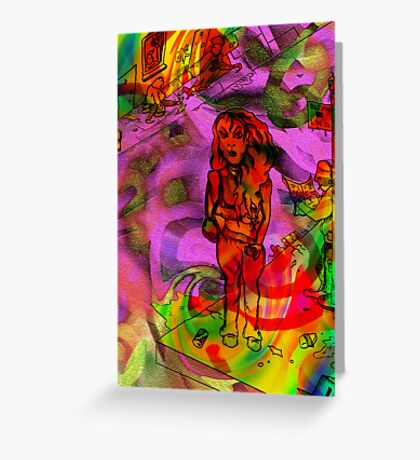 Day Tripper colour version. Greeting Card