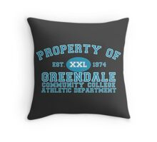 Greendale Community College Athletic Department Throw Pillow