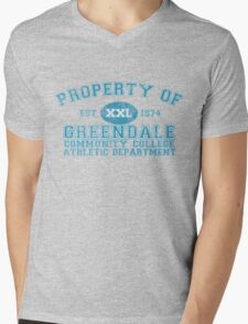 Greendale Community College Athletic Department Mens V-Neck T-Shirt