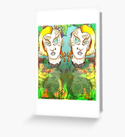 Muted Mullets and other oddities. Greeting Card
