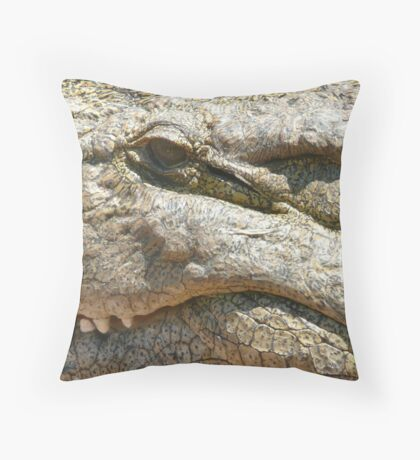 Crocodile close-up - South Africa Throw Pillow