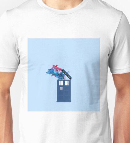 Colorful TARDIS Doctor Who Print Unisex T-Shirt
