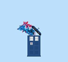 Colorful TARDIS Doctor Who Print by dybim