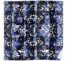 Blue Floral Stroke Poster