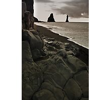 the legendary  trolls - Reynisdrangar Photographic Print