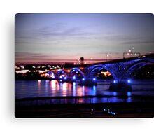 Peace Bridge Lights Canvas Print
