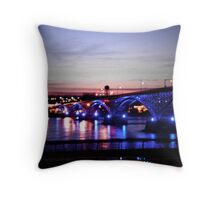 Peace Bridge Lights Throw Pillow