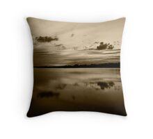 Norfolk Sunset Sepia Throw Pillow