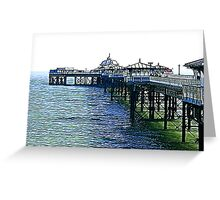 The Pier -Llandudno -North Wales Greeting Card