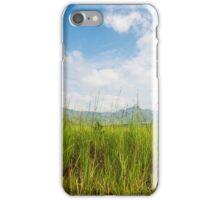 Grasslands and blue skies iPhone Case/Skin