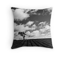 Lonely Tree B&W Throw Pillow