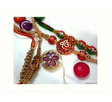 Happy Rakhi !!!! Art Print