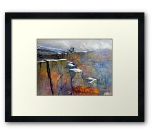 Snow Approaching Stanage Framed Print