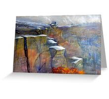 Snow Approaching Stanage Greeting Card