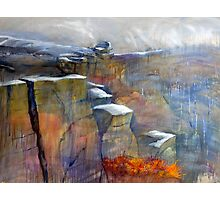 Snow Approaching Stanage Photographic Print