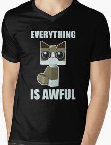 Grumpy Bricks Mens V-Neck T-Shirt