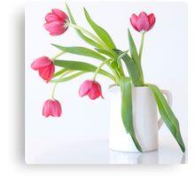 Tulips & Vase Canvas Print