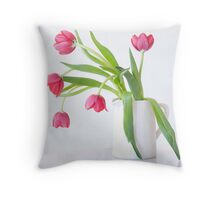 Tulips & Vase Throw Pillow