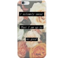 I solemnly swear I am up to no good iPhone Case/Skin