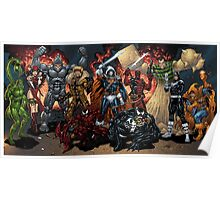 Super Villains Fantasy Line Up Poster