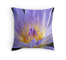 Lotus Flower - Esk River - Purple Throw Pillow