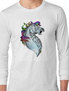 Ornate Color Horse Long Sleeve T-Shirt