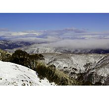 Cloud on the mountainside Photographic Print