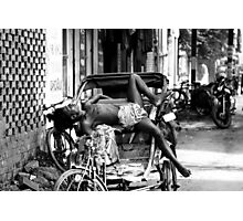Rickshaw Break Photographic Print